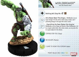 Heroclix Marvel 10th Anniversary Single Figure & Card #013 Worldbreaker