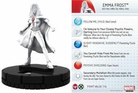 Heroclix Marvel 10th Anniversary Single Figure & Card #014 Emma Frost