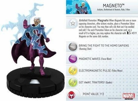 Heroclix Marvel 10th Anniversary Single Figure & Card #015 Magneto
