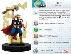 Heroclix Marvel 10th Anniversary Single Figure & Card #016 Thor