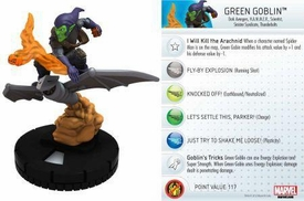 Heroclix Marvel 10th Anniversary Single Figure & Card #018 Green Goblin