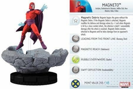 Heroclix Marvel 10th Anniversary Single Figure & Card #019 Magneto