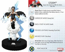 Heroclix Marvel 10th Anniversary Single Figure & Card #020 Storm