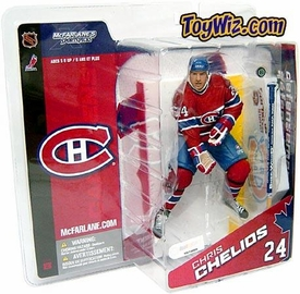 McFarlane Toys NHL Sports Picks Canada Exclusive Series 8 Action Figure Chris Chelios (Montreal Canadiens) Red Jersey