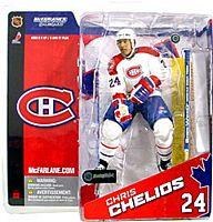 McFarlane Toys NHL Sports Picks Series 8 Canada Exclusive Action Figure Chris Chelios (Montreal Canadiens) White Jersey Variant