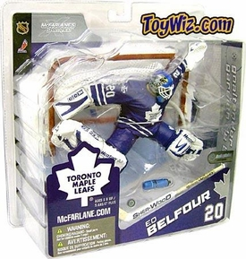 McFarlane Toys NHL Sports Picks Canada Exclusive Series 8 Action Figure Ed Belfour (Toronto Maple Leafs) Blue Jersey Variant