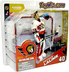 McFarlane Toys NHL Sports Picks Canada Exclusive Series 8 Action Figure Patrick Lalime (Ottawa Senators) White Jersey