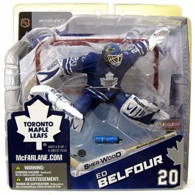 McFarlane Toys NHL Sports Picks Canada Exclusive Series 8 Action Figure Ed Belfour (Toronto Maple Leafs) White Jersey [Yellowed Blister]
