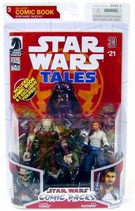 Star Wars 2009 Comic Book Action Figure 2-Pack Yuuzhan Vong & Kyle Katarn