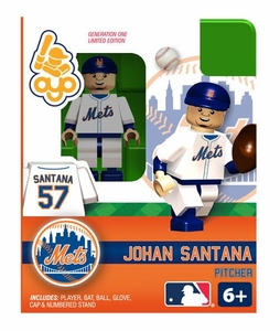 OYO Baseball MLB Building Brick Minifigure Johan Santana [New York Mets]