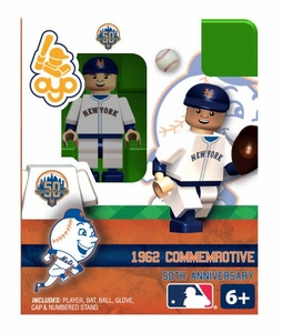 OYO Baseball MLB Building Brick Minifigure 1962 Road NY Mets [New York Mets]