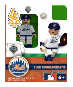 OYO Baseball MLB Building Brick Minifigure 1986 Home NY Mets [New York Mets]