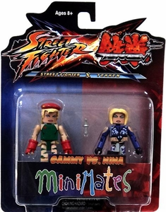 Street Fighter X Tekken Minimates Series 1 Mini Figure 2-Pack Cammy vs Nina