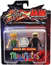 Street Fighter X Tekken Minimates Series 1 Mini Figure 2-Pack Guile vs Raven