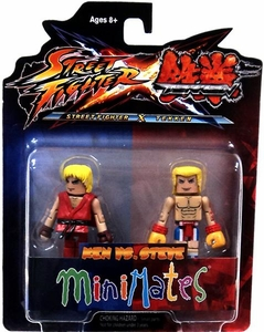 Street Fighter X Tekken Minimates Series 1 Mini Figure 2-Pack Ken vs Steve
