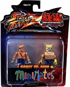 Street Fighter X Tekken Minimates Series 1 Mini Figure 2-Pack Sagat vs King