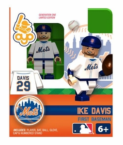 OYO Baseball MLB Building Brick Minifigure Ike Davis [New York Mets]