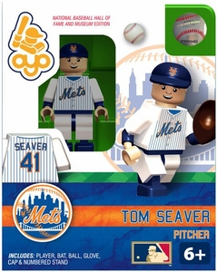 OYO Baseball MLB Building Brick Minifigure Tom Seaver [New York Mets Hall of Fame]