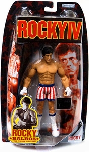 Jakks Pacific Rocky IV (Series 4) Action Figure Rocky with Red, White & Blue Trunks (Drago Fight)