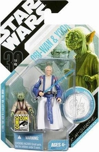 Star Wars Saga 2007 Comic-Con Exclusive Action Figure Obi-Wan & Yoda [McQuarrie Concept]