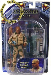 Diamond Select Toys Stargate SG-1 Series 4 Action Figure Desert Camo Teal'c