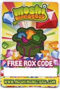 Moshi Monsters FREE ROX Code Card