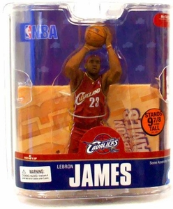 McFarlane Toys NBA Sports Picks Series 13 Action Figure LeBron James (Cleveland Cavaliers) Red Jersey