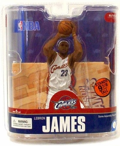 McFarlane Toys NBA Sports Picks Series 13 Action Figure LeBron James 4 (Cleveland Cavaliers) White Jersey Variant