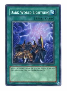 YuGiOh GX Champion Pack Game Three Single Card Super Rare Dark World Lightning CP03-EN005