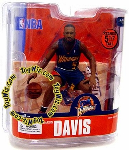 McFarlane Toys NBA Sports Picks Series 13 Action Figure Baron Davis (Golden State Warriors) Blue Jersey Chase Piece