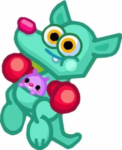Moshi Monsters Series 4 Mini Figure #62 Rooby