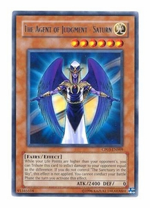 YuGiOh GX Champion Pack Game Three Single Card Rare The Agent of Judgment - Saturn CP03-EN009