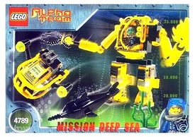 LEGO Alpha Team Set #4789 Alpha Team Deep Sea Aquatic Mech Factory