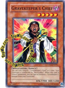 YuGiOh GX Champion Pack Game Three Single Card Common CP03-EN016 Gravekeeper's Chief