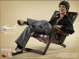 Sideshow Collectibles 12 Inch Deluxe Figure Bruce Lee in 1970's Casual Wear