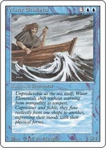 Magic the Gathering Revised Edition Single Card Uncommon Water Elemental
