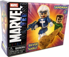 Marvel MiniMates Series 10 Silver Sable and Sandman 2