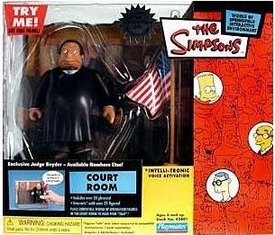The Simpsons Series 11 Action Figure Playset Court Room with Judge Snyder