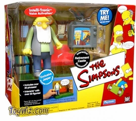 The Simpsons Series 8 Action Figure Playset Springfield Retirement Castle with Jasper