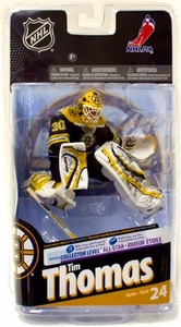 McFarlane Toys NHL Sports Picks Series 24 Action Figure Tim Thomas (Boston Bruins) Black Jersey