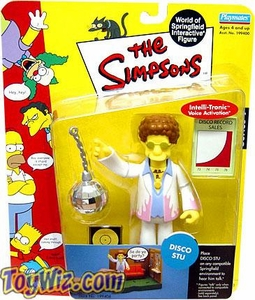 The Simpsons Series 9 Playmates Action Figure Disco Stu