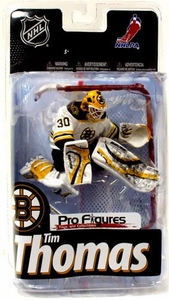 McFarlane Toys NHL Sports Picks Series 24 Exclusive Action Figure Tim Thomas (Boston Bruins) White Jersey Variant with Goalie Net