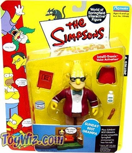 The Simpsons Series 9 Playmates Action Figure Sunday Best Grampa
