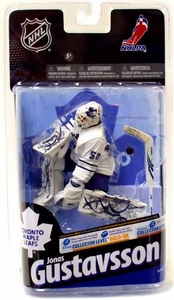 McFarlane Toys NHL Sports Picks Series 24 Action Figure Jonas Gustavsson (Toronto Maple Leafs) White Jersey Bronze Collector Level Chase Only 1,000 Made!