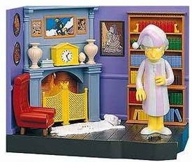 The Simpsons Series 9 Action Figure Playset Burns Manor with PJ Mr. Burns