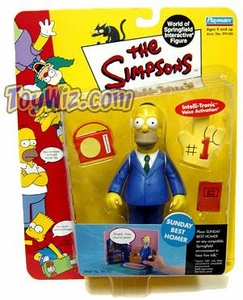 The Simpsons Wave 3 Playmates Action Figure Sunday Best Homer