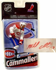 McFarlane Toys NHL Sports Picks Series 24 Action Figure Michael Cammalleri (Montreal Canadiens) White Jersey with Signature Collector Level Premier Only 200 Made!