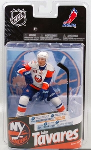 McFarlane Toys NHL Sports Picks Series 24 Action Figure John Tavares (New York Islanders) White Jersey Silver Collector Chase Only 1,000 Made!