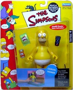 The Simpsons Series 4 Playmates Action Figure Casual Homer