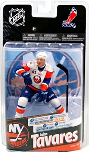 McFarlane Toys NHL Sports Picks Series 24 Action Figure John Tavares (New York Islanders) White Jersey with Signature Gold Collector Chase Only 300 Made!